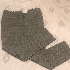 Green plaid slacks